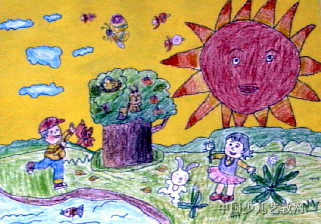 我爱大自然儿童画5幅