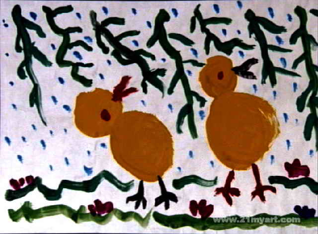 春天来了儿童画12幅(第8张)