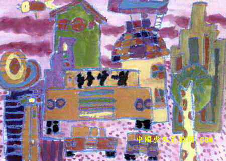 儿童水粉画 >> 我们的城市儿童画3幅   我们的城市儿童画属于水粉画