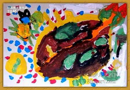 甲克虫儿童画