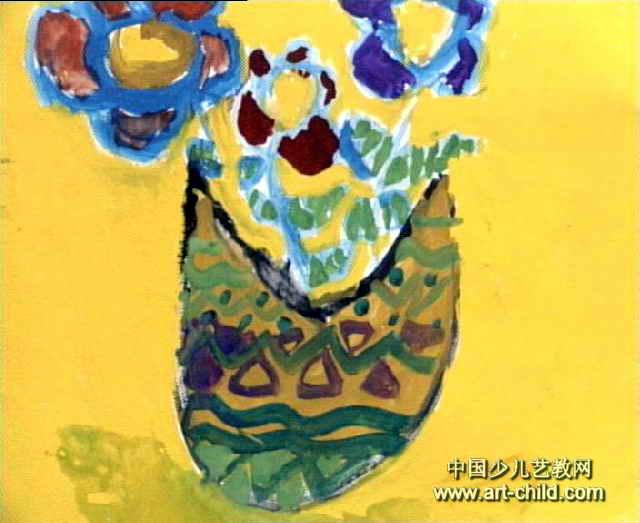 花瓶儿童画 一 8幅 第7张