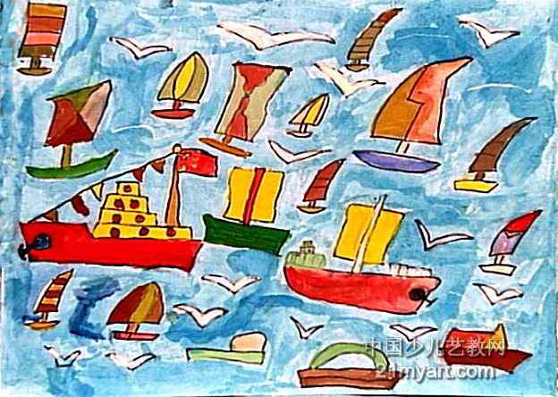 海阔天空儿童画属于油画棒画