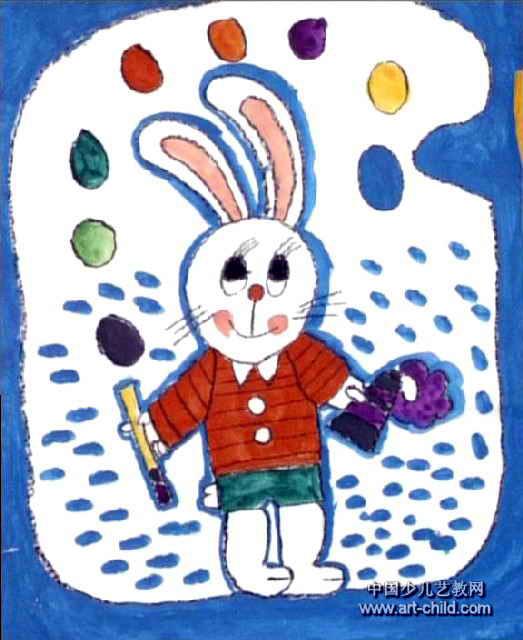 小画家儿童画5幅图片