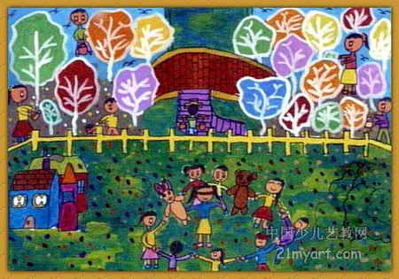 美丽的家园儿童画6幅 第5张