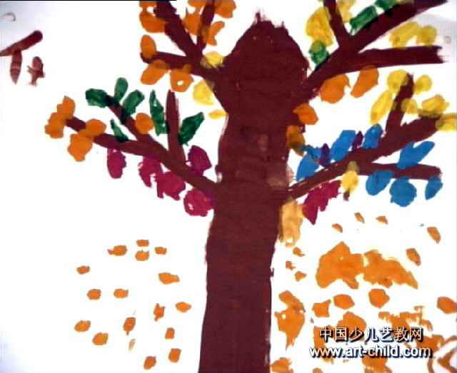 秋天的树儿童画4幅(第3张)