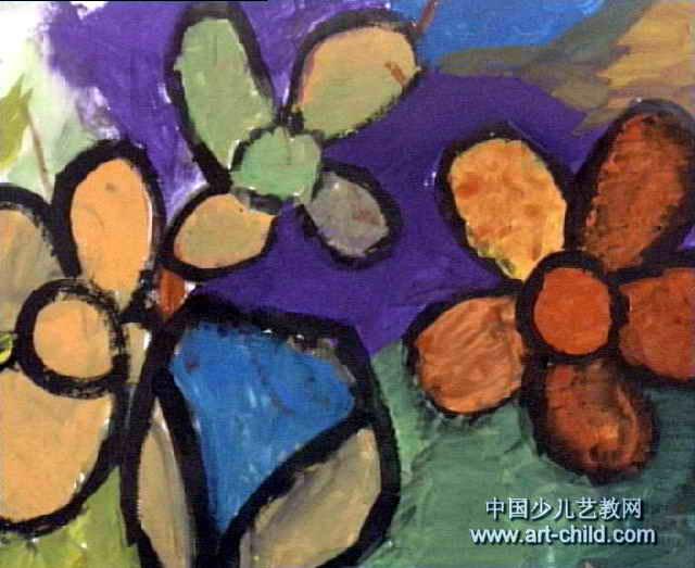 花瓶儿童画 一 8幅 第6张