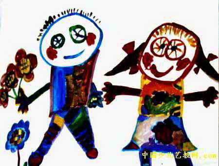 白雪公主和白马王子儿童画