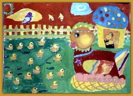 鸡宝宝儿童画