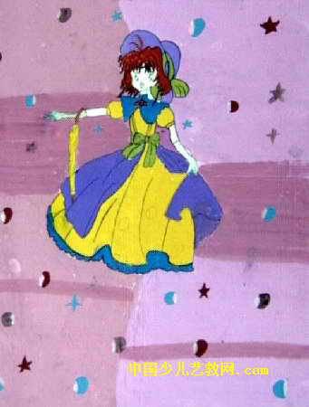 小公主儿童画3幅
