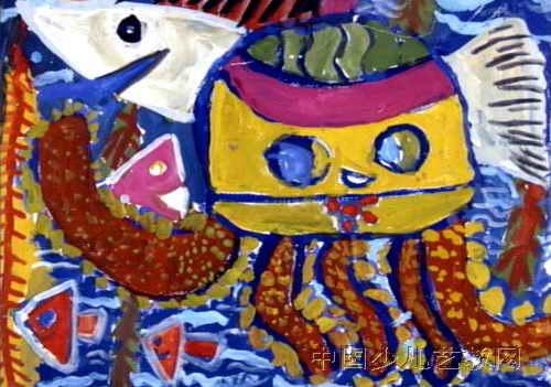 美丽的海底世界儿童画