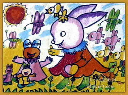 春天来了儿童画6幅(第3张)
