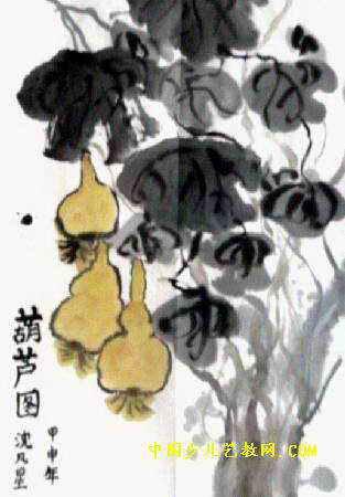 葫芦图儿童画3幅(第2张)