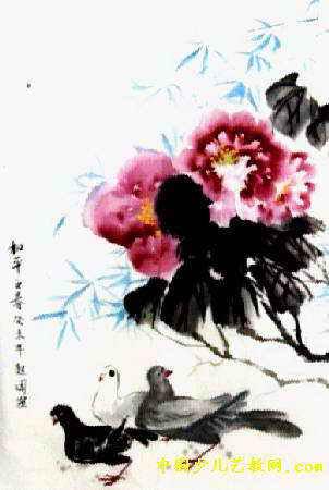儿童画(三)8幅   简笔画   热门儿童水墨画图片   和平之春儿