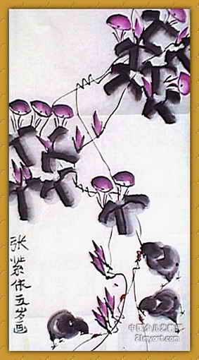 牵牛花儿童画(三)8幅(第6张)