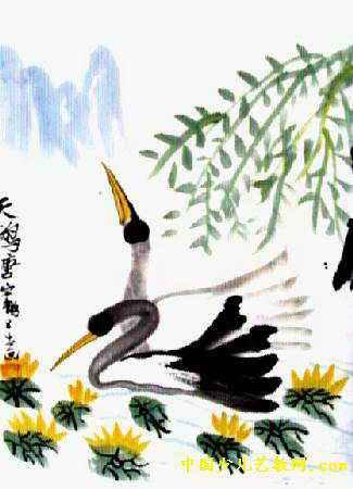 天鹅儿童画7幅