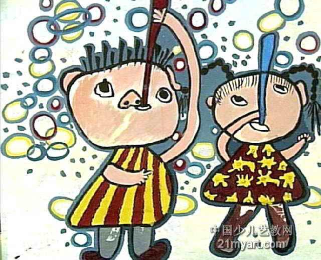 清秋儿童画 秋乐园儿童画作品欣赏