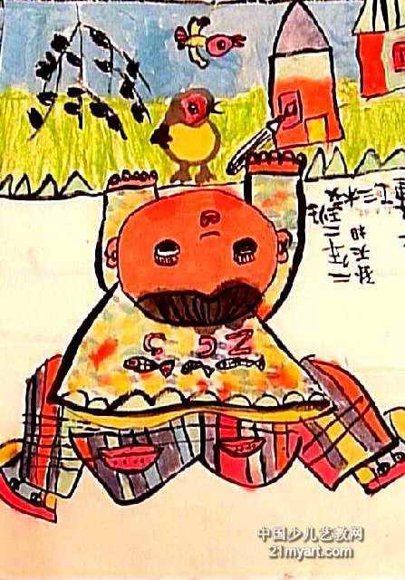 简笔画 儿童画 儿童水墨画