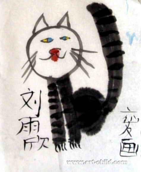 小眼猫儿童画作品欣赏