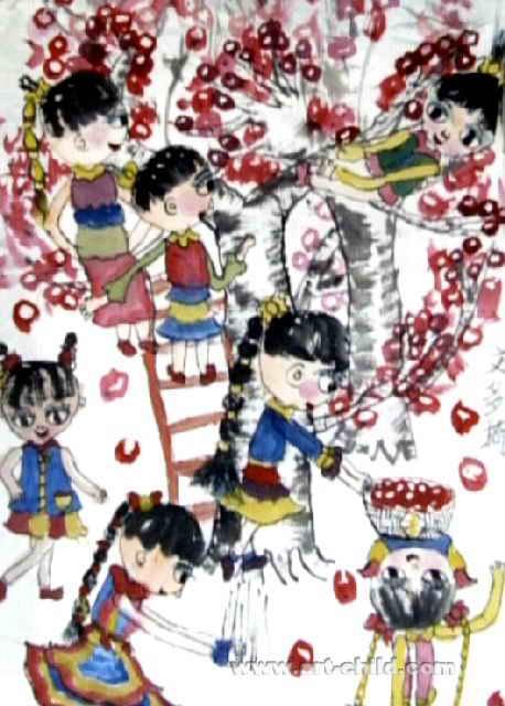 丰收儿童画(三)5幅