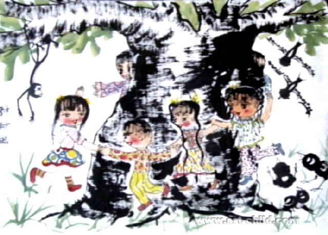 游戏儿童画