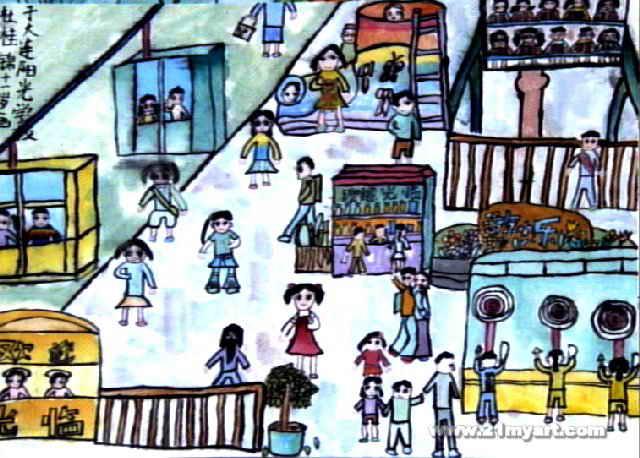 黄金周儿童画作品欣赏