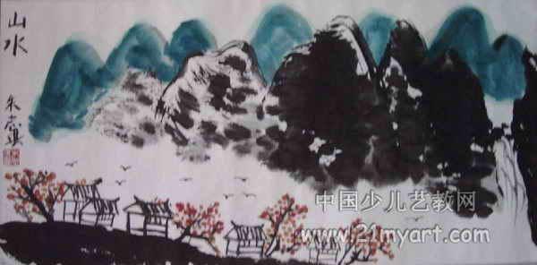 山水画儿童画