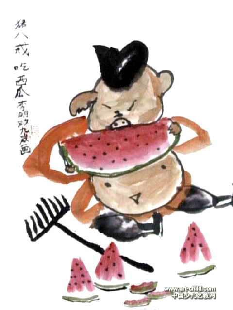 橡皮章素材吃瓜