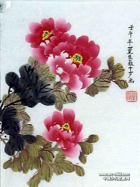 洛阳牡丹儿童画12幅(第6张)