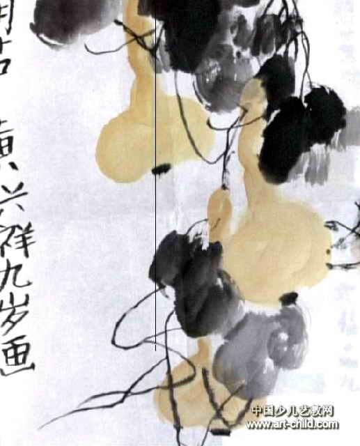 葫芦儿童画(一)8幅(第5张)