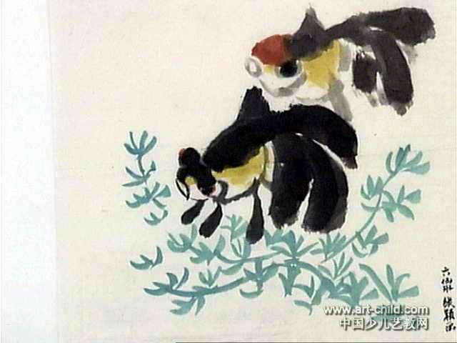 金鱼儿童画(二)8幅(第4张)