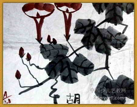 牵牛花儿童画(三)8幅(第4张)