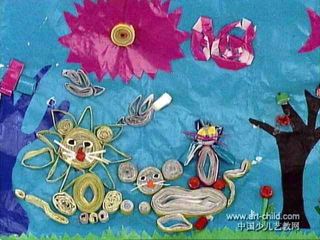 动物是一家儿童画作品欣赏