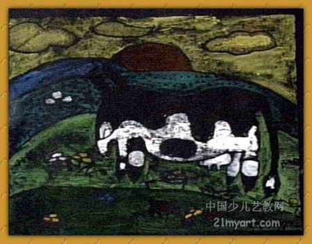美丽的草原儿童画; 京剧脸谱线描儿童画图片大全下载