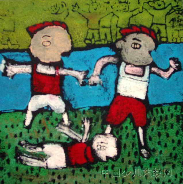 赛跑儿童版画
