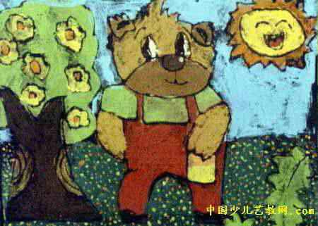 可爱的小熊儿童画