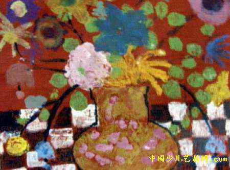 花瓶儿童画4幅(第3张)