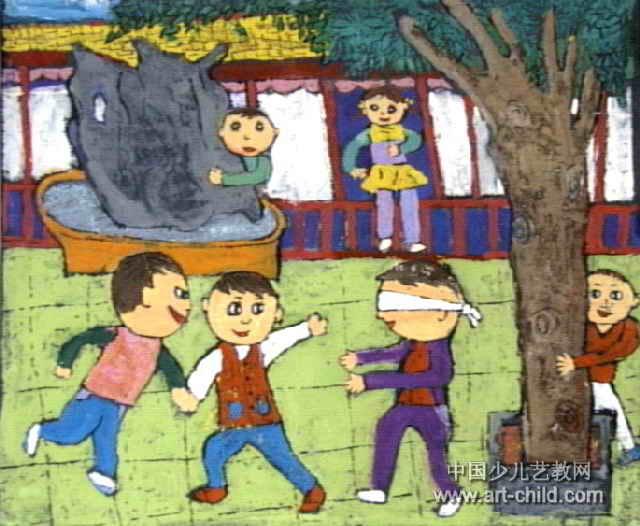 儿童捉迷藏图片【相关词_ 儿童画捉迷藏图片】图片