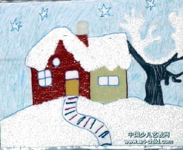 儿童装饰画下雪了 装饰画 简笔画大全
