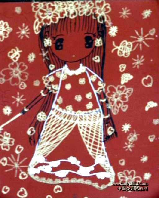 小仙女儿童画图片