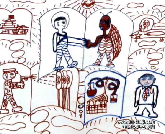 未来世界儿童画作品欣赏