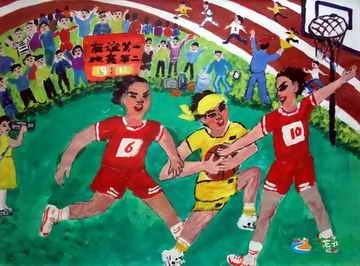 校园运动会 儿童画