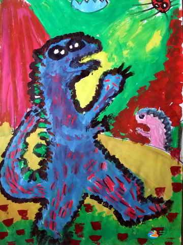《大恐龙》儿童画