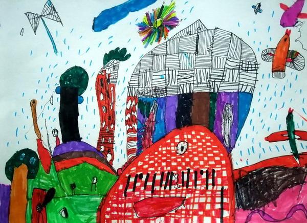 奇妙的世界 儿童画