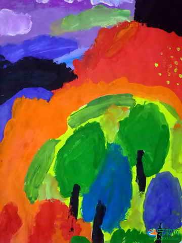 《我的风景画》儿童画