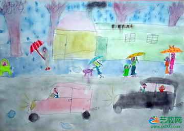 雨天 儿童画