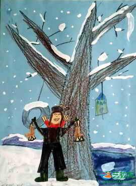 冰鞋,还可以去滑雪,打雪仗等.