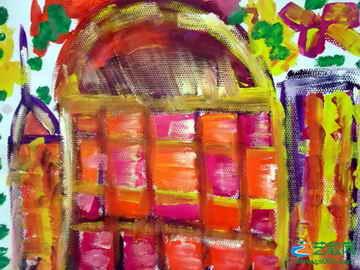 《美丽的房子》儿童画