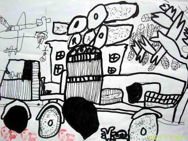大游轮儿童画_上一页下一页         《大游轮》一儿童画               简笔画