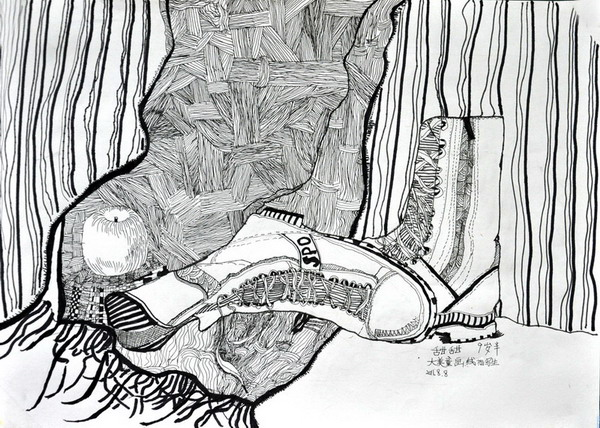 《线描写生》儿童画