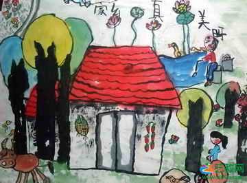 我的家乡真美呀 儿童画